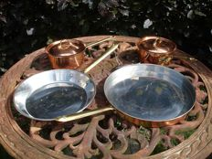 Copral, set of copper cookware and pots with lids