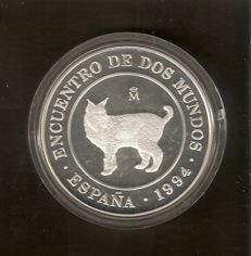 "Spain – Joâo Carlos I – 2000 pesetas – ""Encontro de dos Mundos"" (the coming together of two worlds) – 1994"