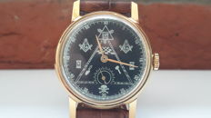 "Masonic "" Pobeda "" Gold-plated-AU . NOS Men's Watch – USSR 1945-60's ."