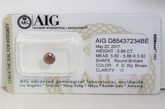 Reddish Diamond – 0.88 ct