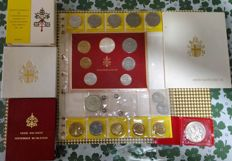 Vatican City – lot of lira coins – 7 items from 1963, 1978, 1978 annual series, 1983-84 and silver medal, etc.