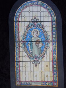 Ink model & Watercolour for stained glass design Saint Ferjeux-1920-J.Boudin-France