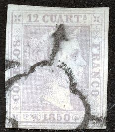 Spain 1850 – Isabel II – Edifil No. 2