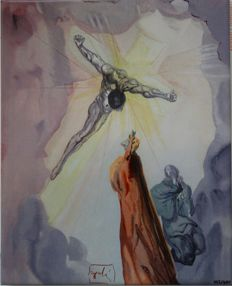 Salvador Dali(after) - Apparition du Christ