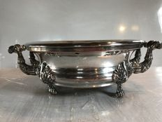 Punched silver plated metal warming plate  - France from the 1900s