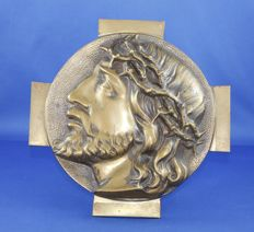 Bronze 3D plaque of Jesus