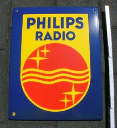 Enamel sign - Philips Radio - ca. 1960/70