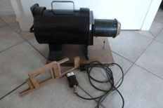 Antique/old slide projector with slides of old Rome and new Rome, Harz mountains, Norway