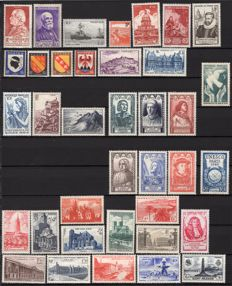 France 1946/1952 – 7 complete years – Yvert No. 748 to 939