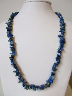 14 kt sodalite women´s necklace - gold clasp