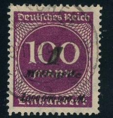 "German Empire/Reich - 1923 - 1 billion on 100 Mark violet-purple, so-called ""Hitlerprovisorium"", Michel 331a"