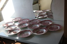 Complete English plates tableware