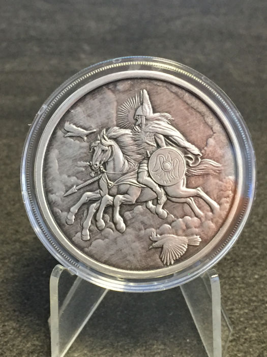 USA – Medal 2016 'Nordic Creatures – Sleipnir' with box & certificate – 1 oz silver