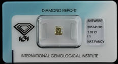 1.07 ct. Natural Fancy brownish Yellow Diamond - NO RESERVE