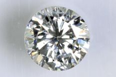0.27 ct brilliant cut diamond – E / SI2.