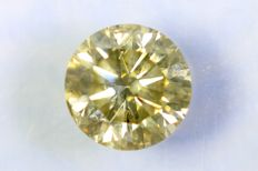 Diamond – 0.84 ct – Fancy Yellowish Grey – SI2 – No Reserve Price