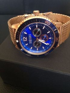 Nautec No Limit Glacier 'Rose Gold Blue' – Men's wristwatch