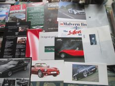 Car brochures special English brands (Aston/Bentley/Morgan/Panther/TVR/Rolls, 15x, 1981-2004)