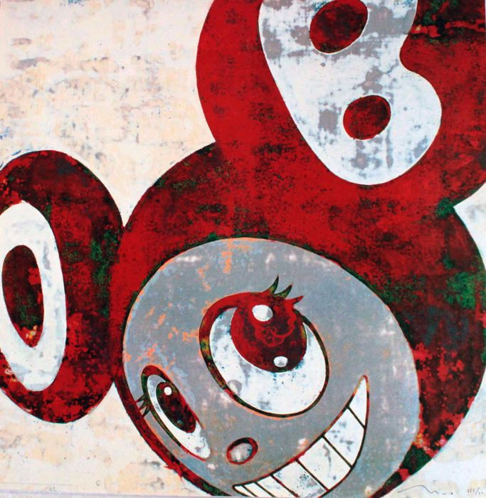 Takashi Murakami - Dob - Rust Red - And Then And Then