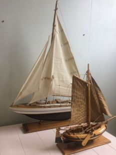 A sailboat and a botter