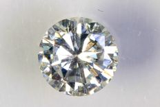 0.27 ct - Brilliant-cut diamond -  F ,  SI1