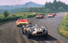 Art Print Exclusive Serie - Collins/Aston Martin DB3S - Nürburgring 1955  - Artist : Keith Woodcock