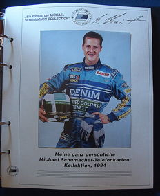 MICHAEL SCHUMACHER - Interesting lot of 12 cards with information about his wins, 1994