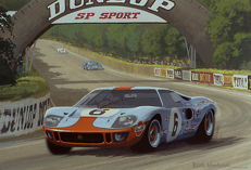 Art Print Exclusive Serie - Le Mans 24h 1969 - Winning Ford GT40 #6 - Ickx/Oliver  - Artist : Keith Woodcock