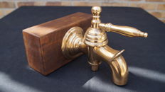 Large brass tap with handle