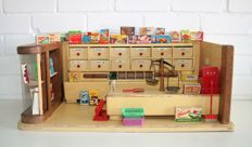 Wooden store with groceries 65 cm wide - 1950s
