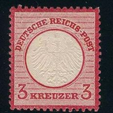 German Empire/Reich - 1872 - 3 Kreuzer karmin, small breast plate, Michel 9