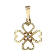 Pendant - Yellow gold - Diamonds