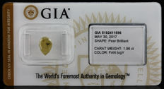 1.96 ct GIA Fancy b. Greenish Yellow Diamond - NO RESERVE