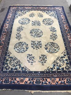Old Chinese carpet, handmade, 174x241