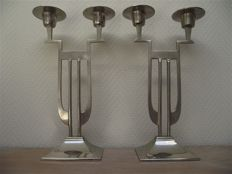 Art Deco style candlesticks, second half of 20th century