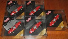 Quartzo - Scale 1/43 - Lot with 5 Ferrari 156 F.1 1961 World and 1962 -- P.Hill, Mairesse, Baghetti, von Trips