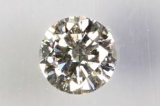 0.13 ct - Brilliant-cut diamond -  J,  SI2  NO RESERVE PRICE