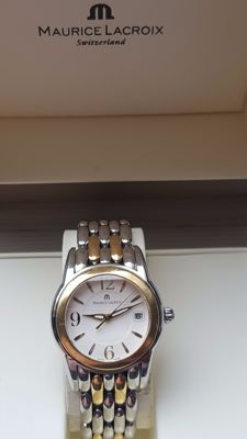Maurice Lacroix Sphere gold- steel wrist watch -date ladys