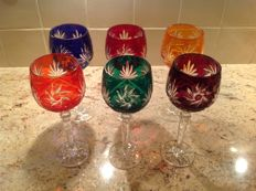 Bohemian crystal glasses