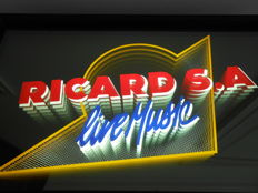 RICARD S.A Live Music _ Light box with mirror glass _ Ca.1980 _ France.
