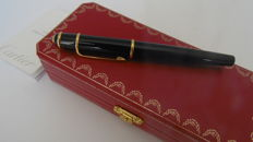Stylo Diabolo Fountain Pen by Cartier, black and gold.