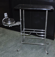 1950s chrome tube metal smokers furniture.