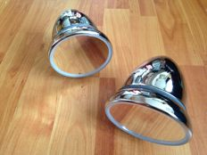 Beautiful set of Torpedo mirrors for MG, Triumph, Mini, Bond, Morris and so on!