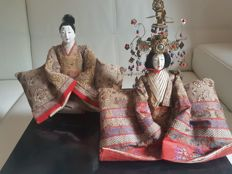 Pair of Hinamatsuri Ningyo dolls – Japan, late 19th Century