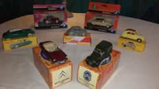 Atlas-Dinky / Norev / Solido - Scale 1/43 - Lot with 7 models: 5 x Citroën & 2 x Renault