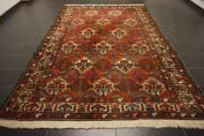 Semi Antique handwoven PERSIAN Oriental carpet from around 1940, fields, Bachtiar Bachtiari, made in Iran, 210 x 310 cm