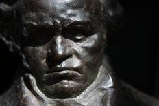 Bronze bust of Beethoven - Italy - early 20th century
