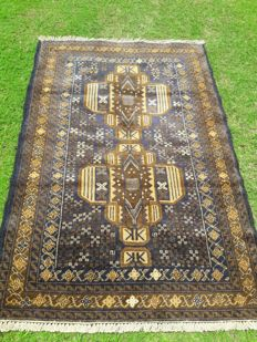 Vintage Hand Made OLD Herathi Area Rug 140 x 90 cm - 4.6 x 3.0 Feet - Afghanistan - Around 1990 - As good as New