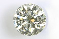 Brilliant cut diamond - 0.58 ct – L, VS1.