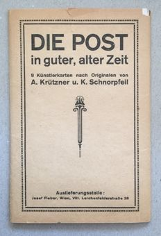 "Lot including 8 postcards ""DIE POST 1750-1908"" - Express letter, automobilpost Vienna"